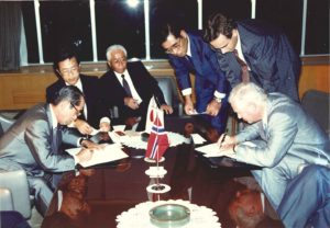 Idemitsu and Statoil signs agreement for IKC to purchase a stake in the Snorre field in 1989
