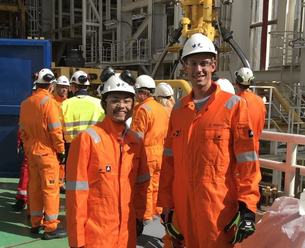 Idemitsu employees on a trip to West Mira. Photo: CKJ/IPN